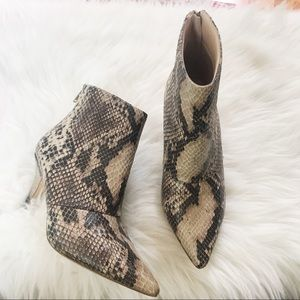Urban Outfitters Snakeskin Booties